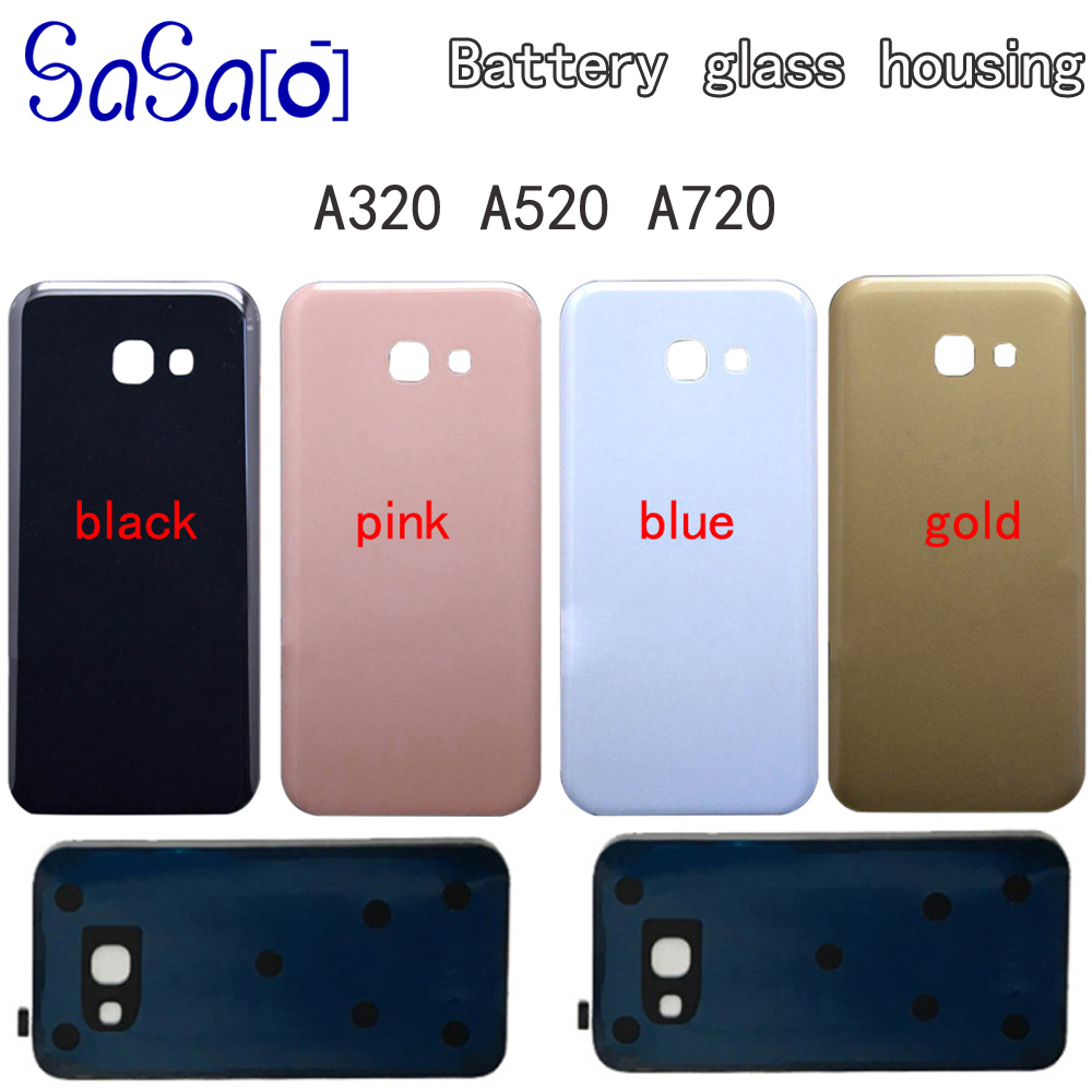 50Pcs A320 A520 A720 Battery Glass Cover Replacement For Samsung Galaxy A3 A5 A7 2017 Back