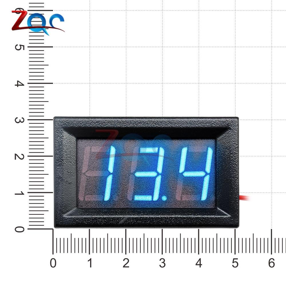 HTB1I2NoXoGF3KVjSZFvq6z nXXaD 0.56'' Mini LED Digital Voltmeter Detector DC 0-100V 12V 24V Voltage Capacity Monitor Volt Panel Tester Meter For Motorcycle Car