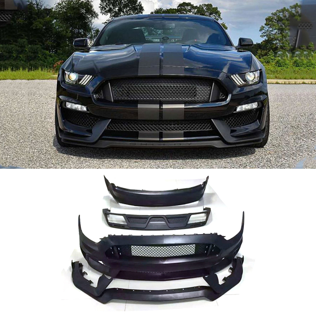 245c0e00855b PP Body Kits Front Bumper Mesh Grill Parts Rear Diffuser Car Accessories for  Ford Mustang V8 V6 GT350 Coupe 2015-2017 S Style