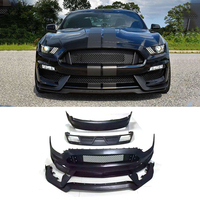 PP Body Kits Front Bumper Mesh Grill Parts Rear Diffuser Car Accessories for Ford Mustang V8 V6 GT350 Coupe 2015 2017 S Style