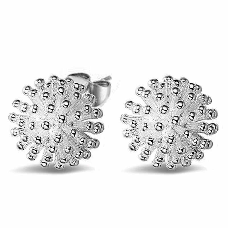 Trendy Fireworks Stud Earring for Women Silver Plated ear Jewelry Gift Drop Shipping
