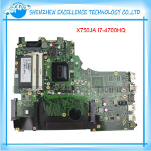 Good quality Original for ASUS X750JA Laptop motherboard with i7-4700HQ CPU integrated DDR3 60NB01Y0-MB300 fully tested&working