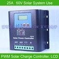 25A 60В ШИМ Контроллер заряда на солнечной батарее  с ЖК-дисплеем Напряжение и емкость батареи  высококачественный дисплей зарядки для Решетк...
