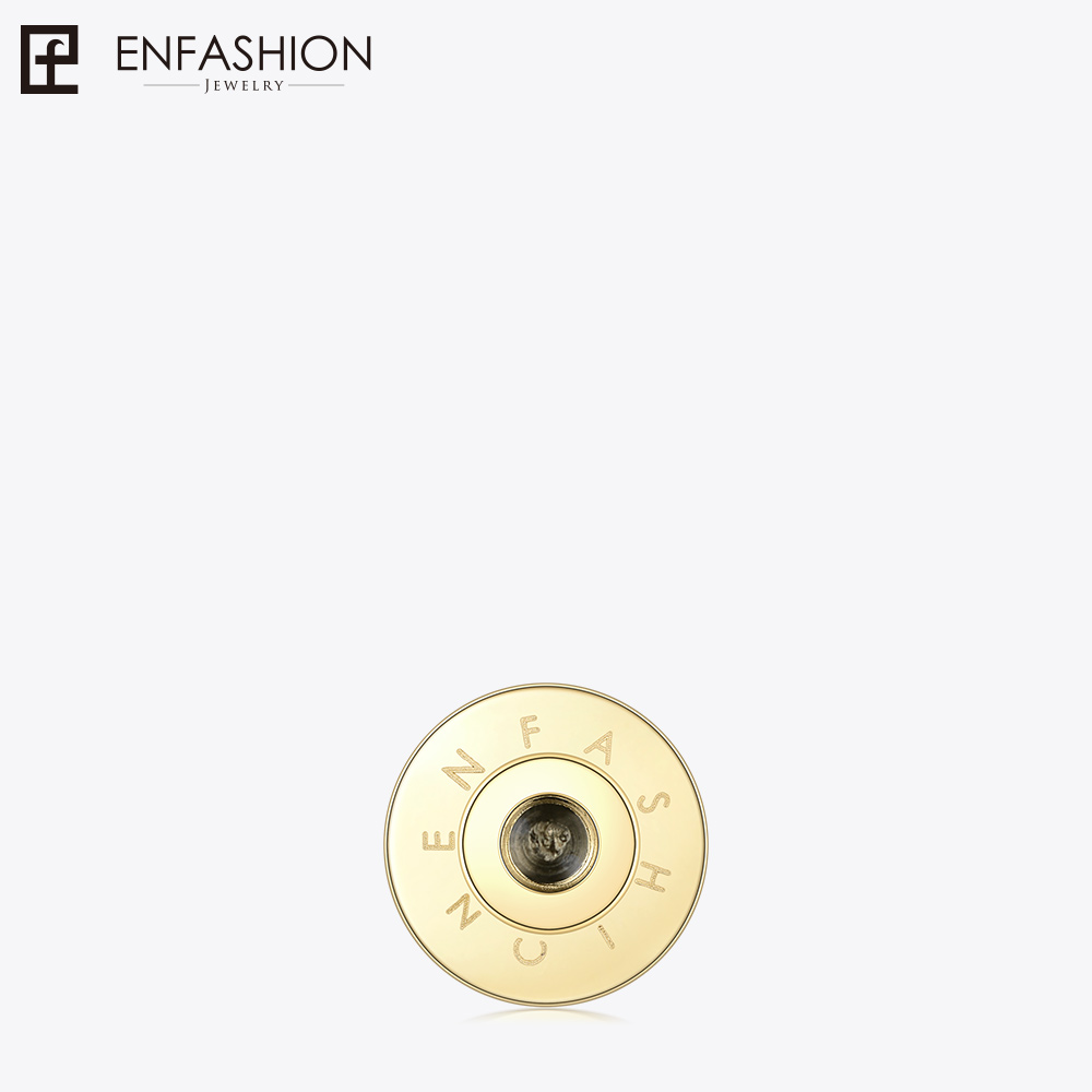 Enfashion Play Series Initial Letters Disc Brooch Pin Gold color Pins Charm Screw Brooches for women DIY Jewelry 70028006