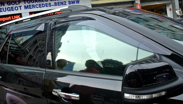 2011-2016 Para Ford Explorer Decoração Janela Viseira Ventilação Defletor Guarda Capa