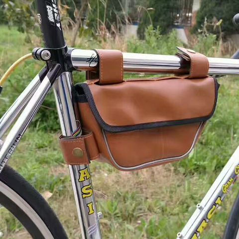 Retro Bike Bag Triangle Package Saddle Bag On The Tube Riding Equipment for Fixed Gear Rode Bike Bags Lahore