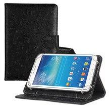 Fiable para 7 pulgadas android tablet tirón del cuero del soporte universal case cubierta