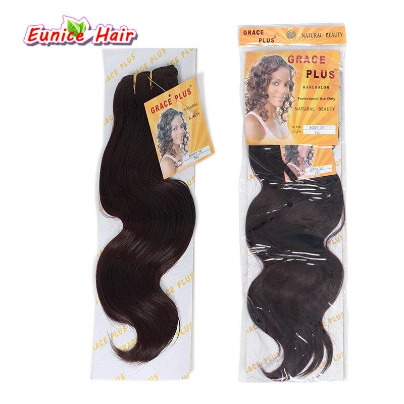 Onda do corpo do cabelo sintético extensões de cabelo Solto Onda Do Corpo da trama do cabelo sintético tecelagens crochet Extensões de cabelo longo para as mulheres negras