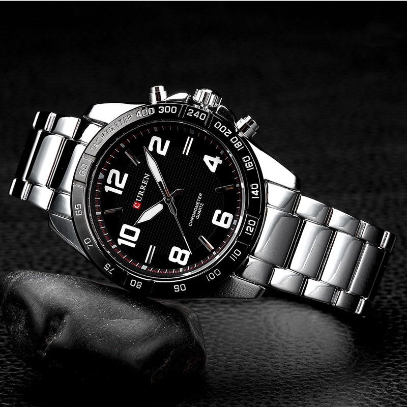 New CURREN Top Brand Men's Watches Men Quartz Watch Man Stainless Steel Military Sports Clock Male Wristwatch Relogio Masculino curren 8023 mens watches top brand luxury stainless steel quartz men watch military sport clock man wristwatch relogio masculino