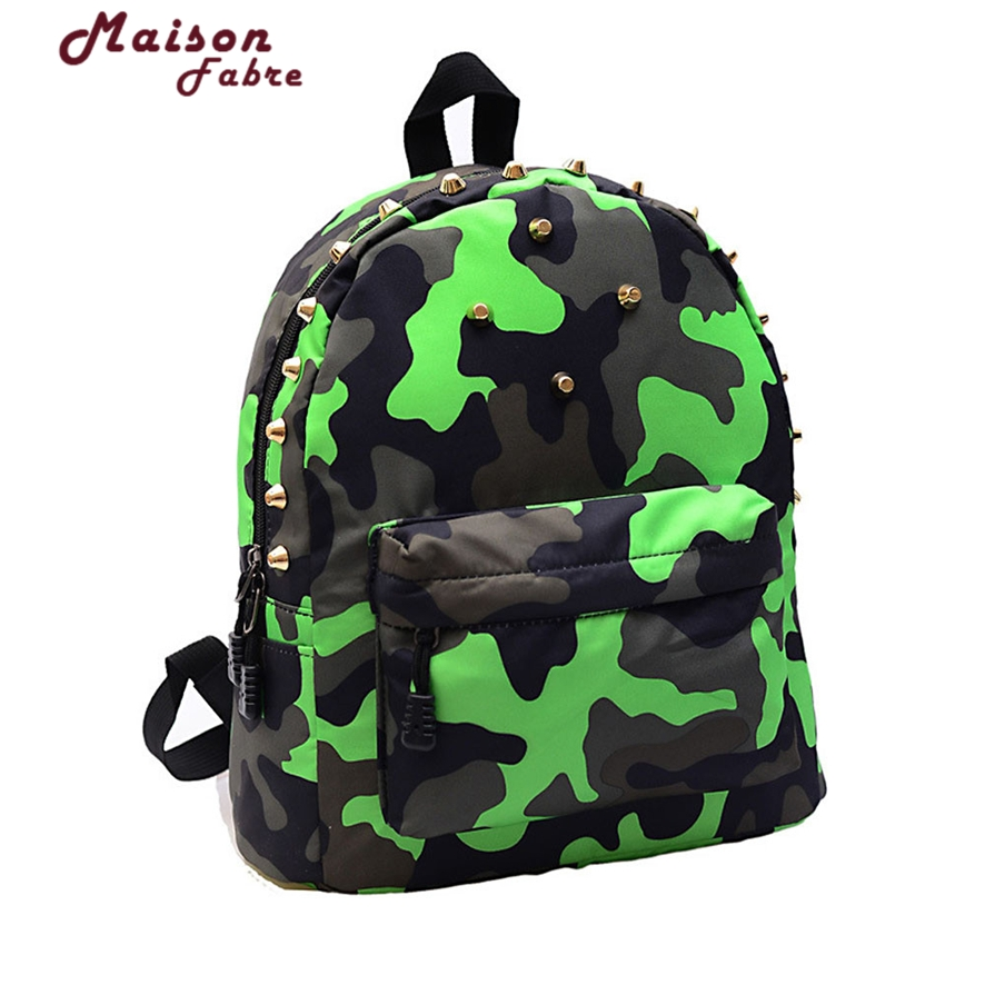 Fashion Children School Bag Rivets Camouflage Backpack Student Backpacks For primary Student Girls Boy Mochilas Mujer 1011#23