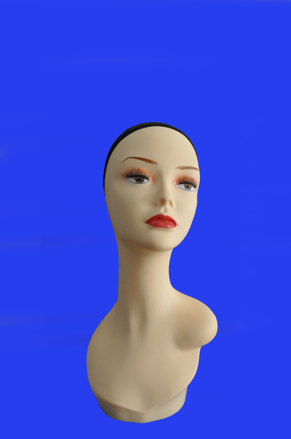 17 tall Plastic PVC mannequin manikin styrofoam head wig cap hat necklace display PZGD Yellow Color