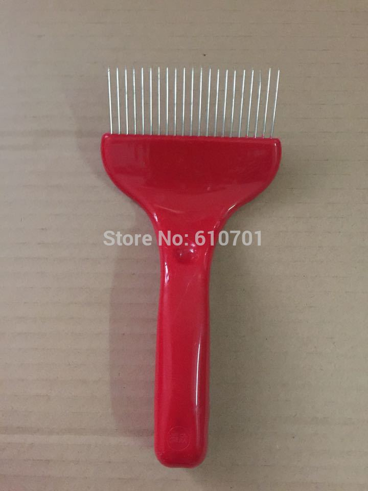 1PC Red Handle Beekeeping Comb Honey Uncapping Fork Free Shipping electric honey knife uncapping large scraper stainless steel hot heating knife honey cutter beekeeping tool supplies