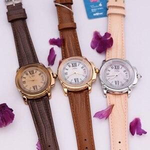 Image 5 - Top Julius Dame frauen 5 Farben Auto Datum Armbanduhr Elegante Shell Retro Mode Stunden Armband Leder Mädchen Geburtstag geschenk