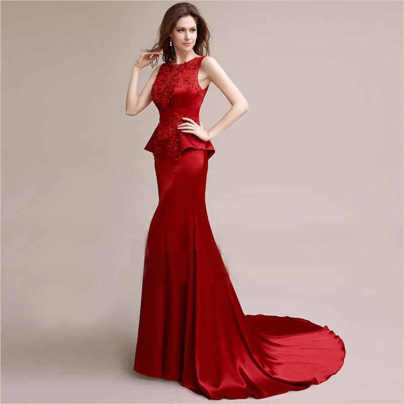 Nueva Noche Vestidos Encaje 2015 Largo De Mujeres Moda Tribunal vby76gmfIY