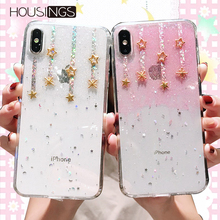 Luxury Glitter Bling Star Cute Phone Case For iPhone 7 8 Plus XR XS Max Soft Silicone Clear Back Cover X Xs 6s 6
