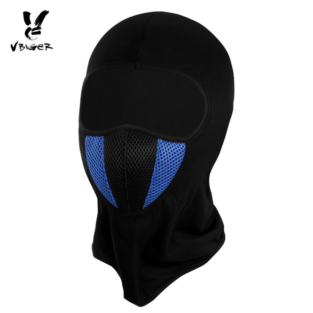 Vbiger Windproof Balaclava Skullies Beanies Motorcycle Tactical Ski Face Mask Dustproof Warm Face Cover with Breathable Grid skullies