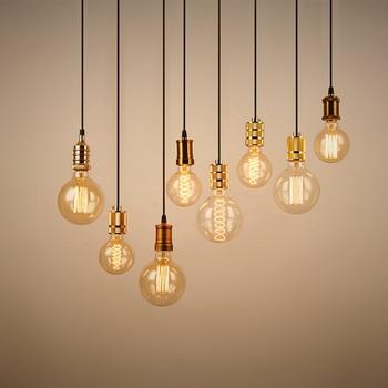 цены Vintage Pendant Lights E27 Hanglamp industrial lamp Retro Edison Lamp for living room Home Lighting Fixture Kitchen Pendant Lamp