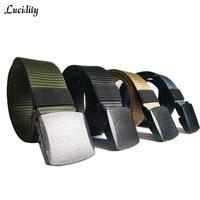 lucidity New Elastic Belt For Mans Woven Elastic Men Belt High Quality Pin Buckle Canvas Belt Male