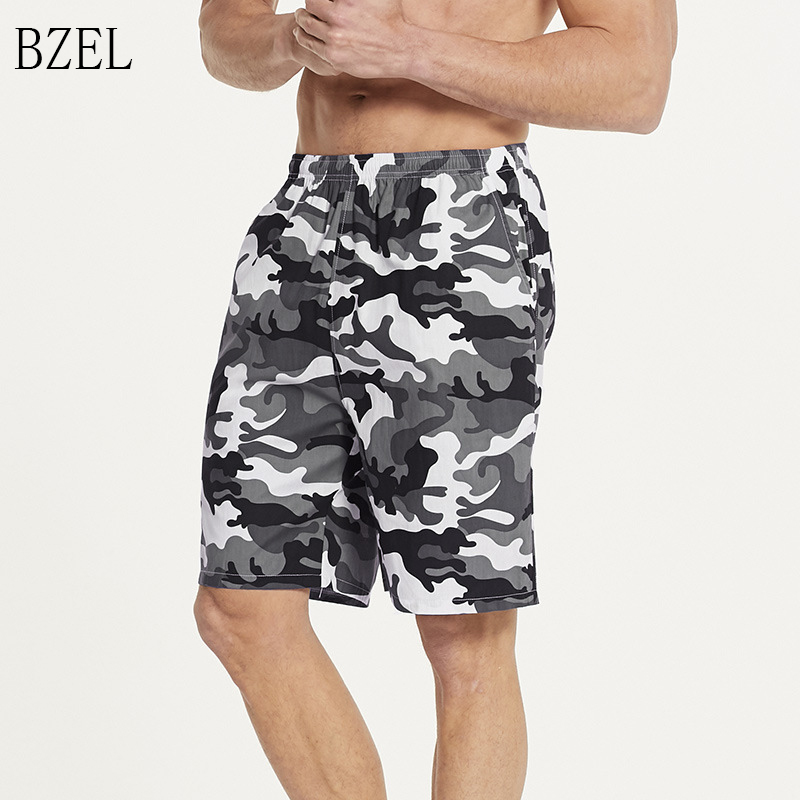 BZEL Men Big Size Pajama Shorts Plus Size Beach Shorts Men Swimming Shorts Quick Drying Mens Sport Pants Cotton Sleepwear Shorts