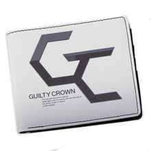 Guilty Crown Wallet Short Purse Card Holders Denim Pouch Canvas Notecase Oxford Souvenir Bag Fans Gifts Handbag Drop Shopping(China)