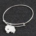 No Fade Silver Pomeranian DIY Openning Bracelet Bangle Femme Pulseras Mujer Pet/Dog Bracelets & Bangles for Women/Men Jewelry