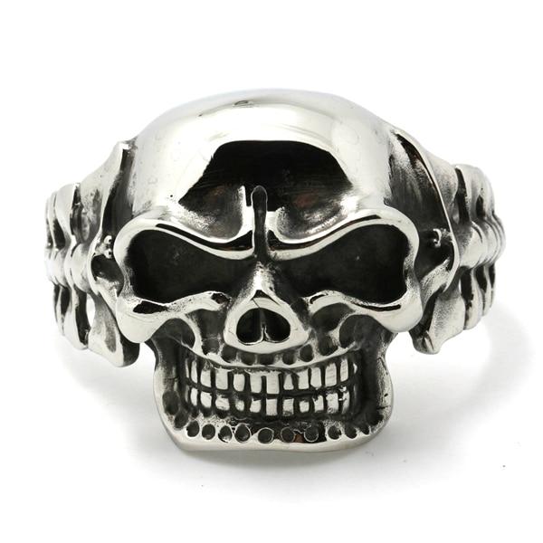 e818fce038db Enorme y pesado para hombre Niños 316l Acero inoxidable Cool punk gótico  grande evil Demon Skull biker brazalete nuevo