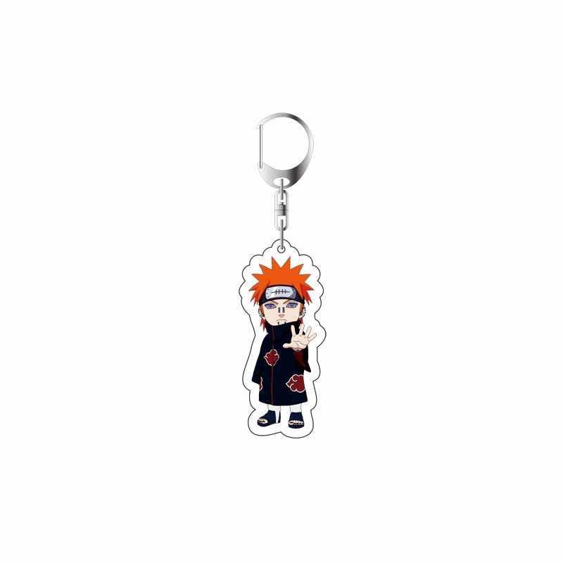 2019 Chaveiro Naruto Sasuke/itachi/Kakashi Acrílico Dupla Face Pingente Acessórios Anime Dos Desenhos Animados do Anel Chave Da Corrente Chave