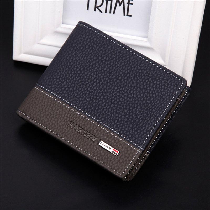 Hot 2017 New Designer Brand Business Black Leather Men Wallets ...