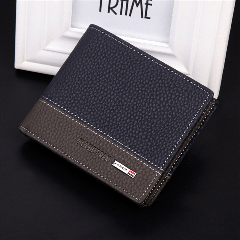 92faa6ac88ed Detail Feedback Questions about Hot 2018 New Designer Brand Business Black  Leather Men Wallets Short Purse Card Holder Fashion carteira masculina  couro ...