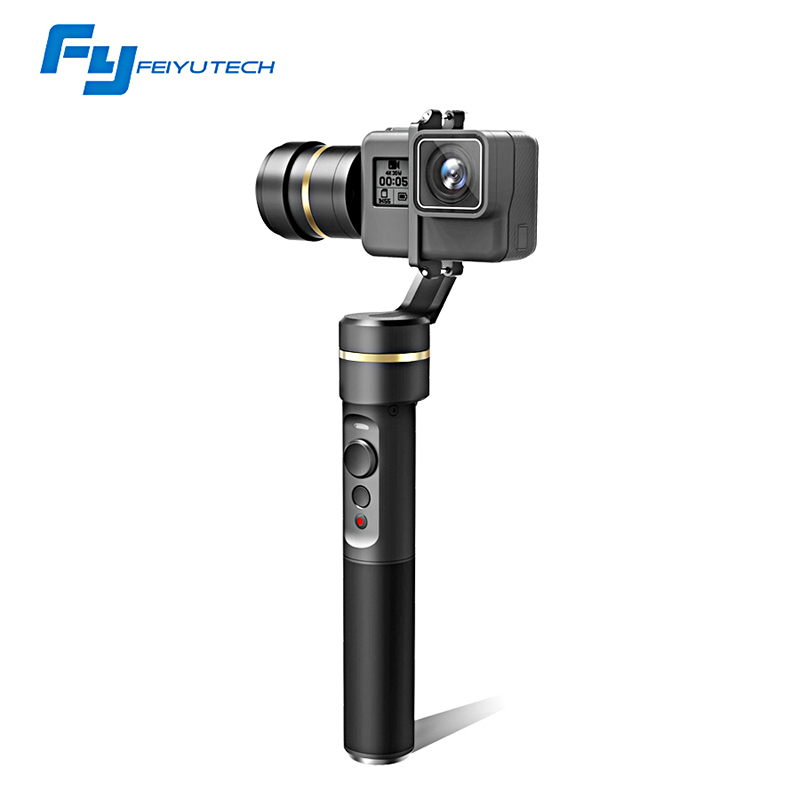 FeiyuTech fy G5 3-axis Handheld Gimbal Splashproof For GoPro HERO5 5 4 Xiaomi yi 4k SJ AEE Action Cams Gimbal feiyu g5 3 axis handheld gimbal for gopro hero5 5 4 xiaomi yi 4k sj aee action cams splashproof bluetooth enabled control