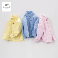 DB5010 dave bella spring baby boys latest boutique shirts casual pink shirts