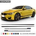 M rendimiento deporte puerta lateral raya falda pegatina cintura línea cuerpo Calcomanía para BMW 1 2 3 4 5 6 Series GT M4 f22 f30 f32 f36 f10