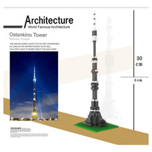 Фотография LOZ DIY 3D Diamond Mini Block 190pcs Ostankino Tower Moscow Famous Architecture Assembled Building Block Collection Gift