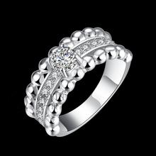 2016 New Style AAA CZ  three-dimensional Geometric Ring 100% 925 Sterling Silver Ring for Lady Wholesale Engagement Accessories