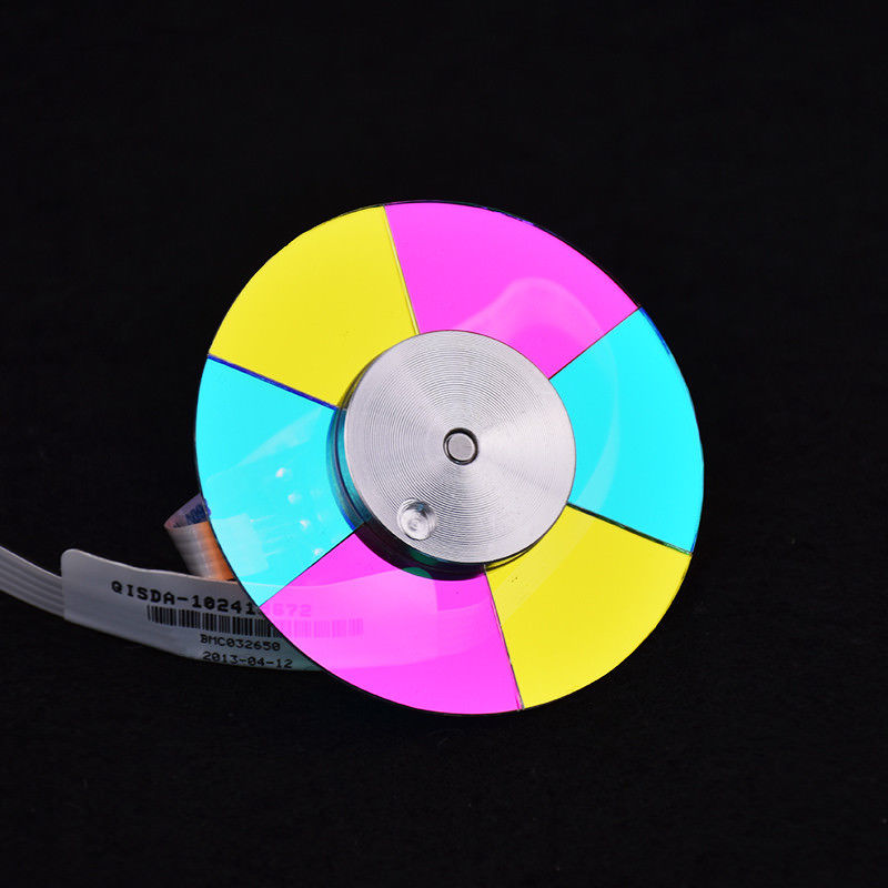 Free Shipping ! NEW original DLP Projector Color Wheel For BenQ W1070 Color wheel 1PCS 4 segment diameter 44mm projector color wheel fit for del 3200mp