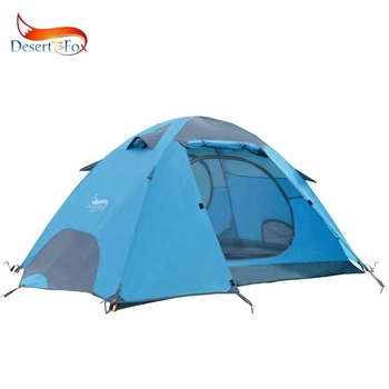 Desert&Fox Outdoor Camping Tent, Aluminum Poles Double Layer 2-3 Person Large Space Waterproof Portable Travel Tent 2