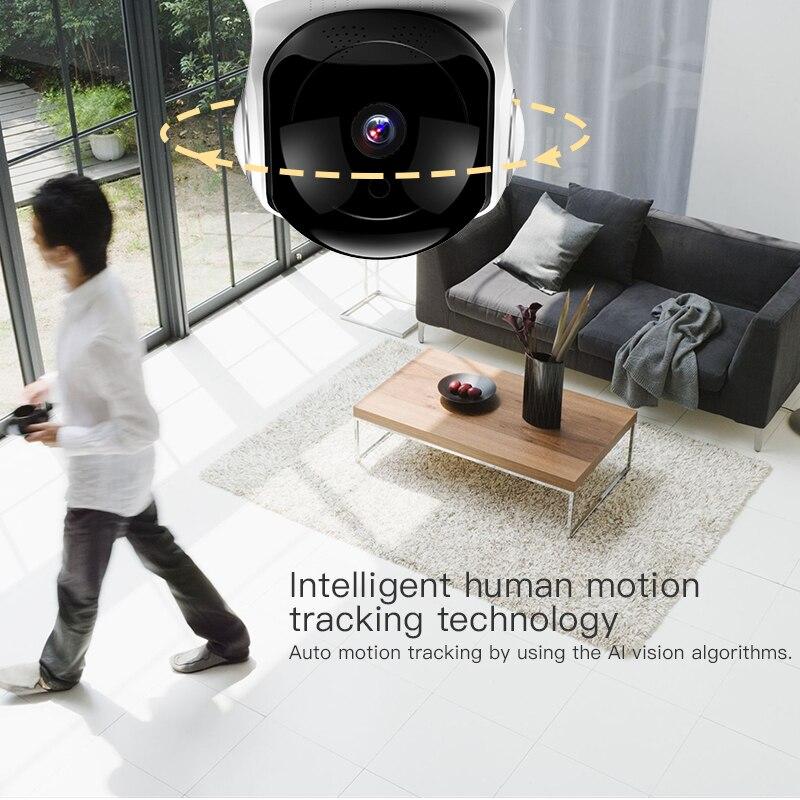 1080 p 2.0mp ip wifi caméra cctv sécurité maison détection de mouvement traçage enregistrement vision nocturne prise en charge pour google home alexa