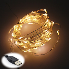 5V 10M 100 LEDs Waterproof USB LED Copper Wire String Lights for Wedding Christmas Party Home Decoration
