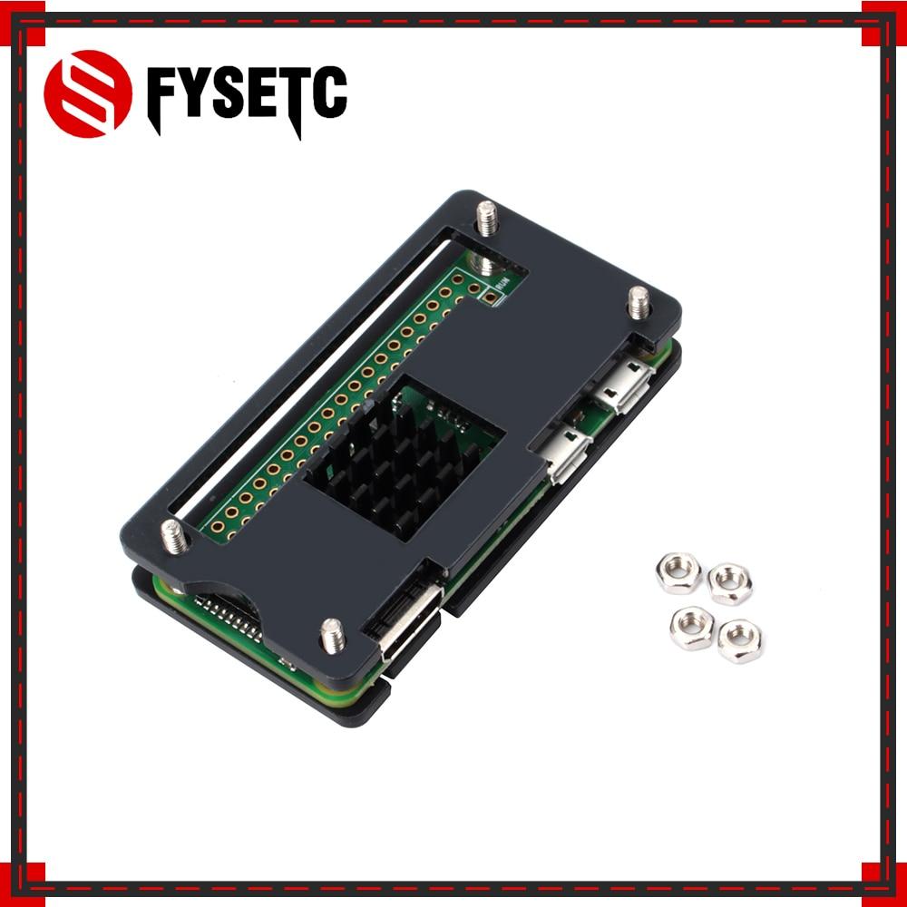 Raspberry Pi Zero W Case Acrylic Case + Black Aluminum Heat Sink Black Box Compatible For Raspberry Pi Zero V 1.3 Board