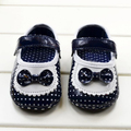 Baby Girls Soft PU Leather Shoes Bowknot Dots Princess Toddler Shoes Prewalkers