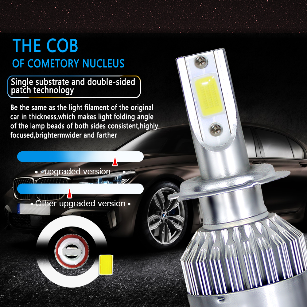 NEW Arrivals Car Lights Bulbs LED H4 H7 9003 HB2 H11 LED H1 H3 H8 H9 880 9005 9006 H13 9004 9007 Auto Headlights 12V Led Light (5)