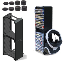 купить 24 Game CD Discs Storage Seat Bracket Double 2 layer Storage Stand For PS4 Pro/PS4 Slim /PS4/ONE S/VR  Glasses Headset Holder недорого
