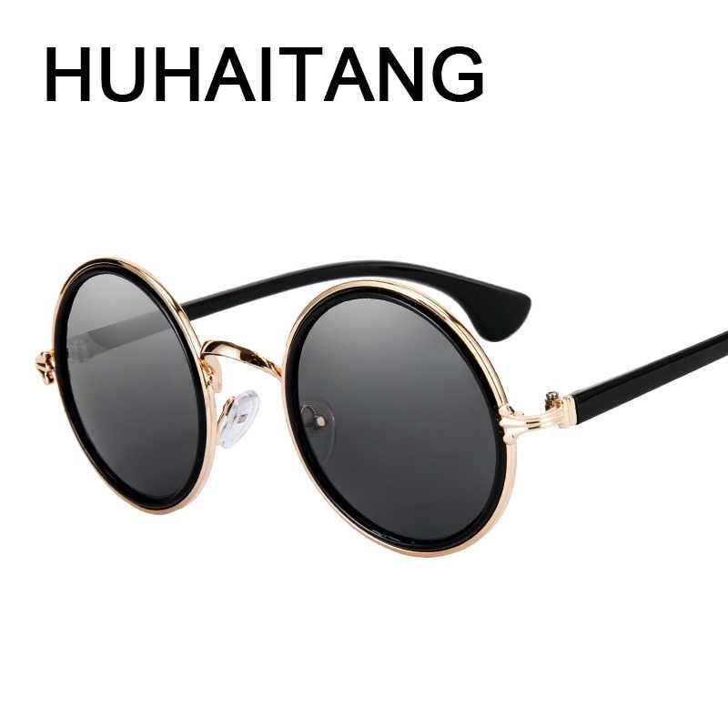 79e468dd592 HUHAITANG Luxury Steampunk Sunglasses Women Vintage Round Punk Sun Glasses  For Men 2019 High Quality Brand