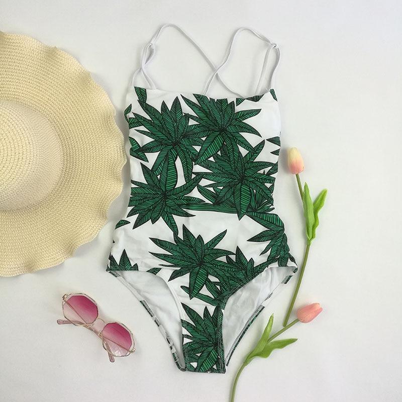 Verano 2018 traje de baño de impresión de una pieza traje de baño - Ropa deportiva y accesorios