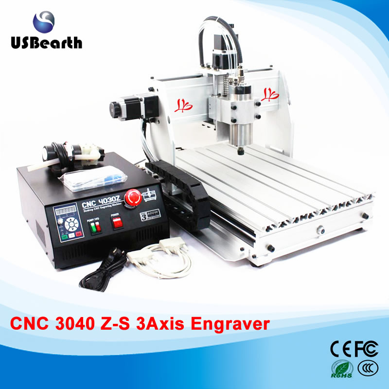 EU free tax 3040Z-S 3axis 800W CNC carving machine 220/110V with 800W VFD water cooled spindle+tool bits 14 pcs+collet 13 pcs russia tax free cnc woodworking carving machine 4 axis cnc router 3040 z s with limit switch 1500w spindle for aluminum