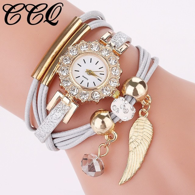 Hot Fashion Women Dress Handmade Bracelet Watch Luxury Casual Jewelry Clock Watc