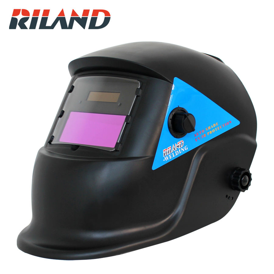 RILAND X601   Solar Auto Darkening  Welding Helmet Welder Mask Solder Mask for Auto Welding Machine or Plasma Cut riland automatic welder mask electric welding helmet mig arc mma electric welding cap x701b red color