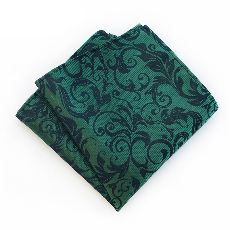 Paisley Floral Printed Handkerchiefs For Men Suit Pattern Pocket Square Polyester Hankies Hanky Wedding Pocket Towel