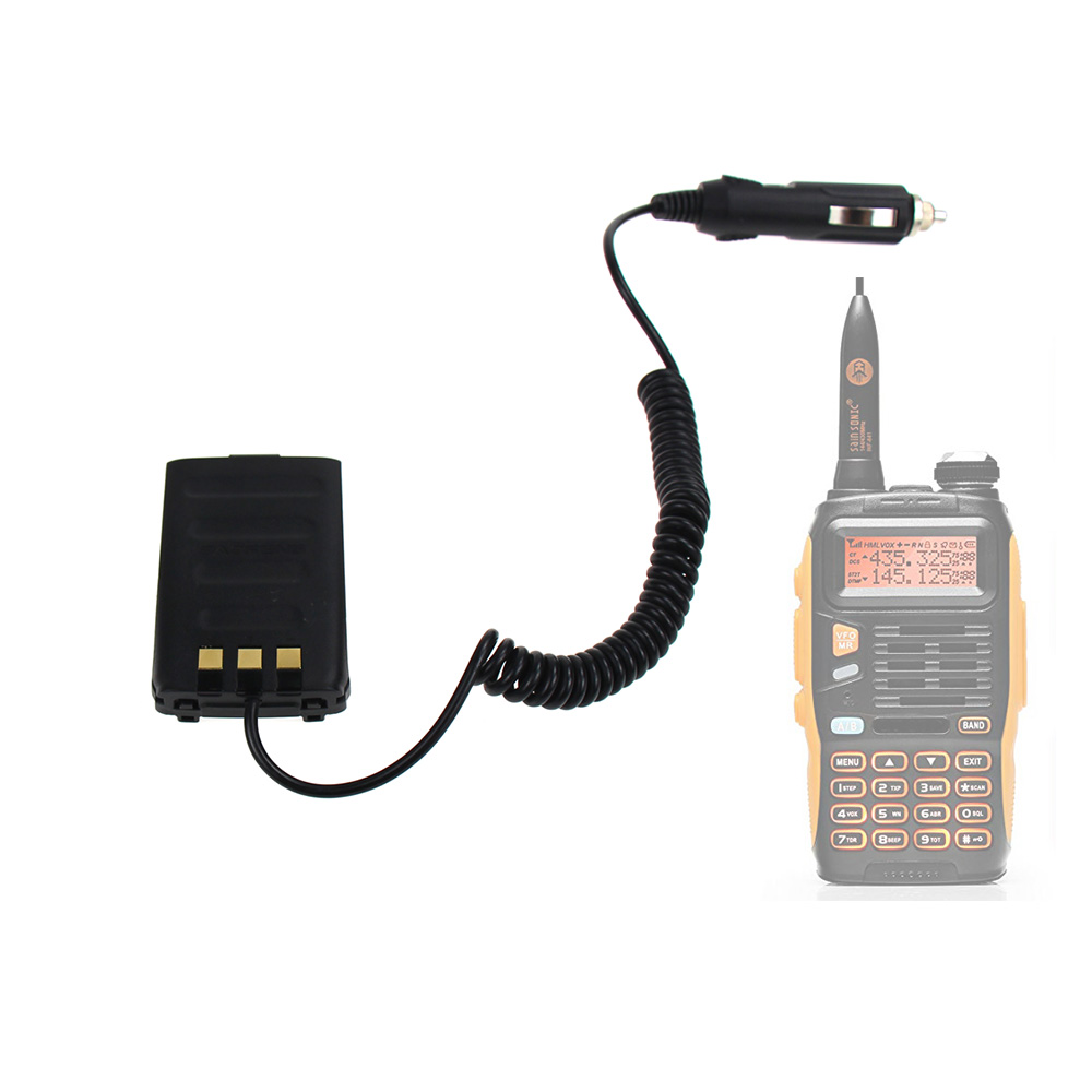 Baofeng GT-3 Walkie Talkie Battery Eliminator Car Charger For Baofeng GT-3TP GT3 GT3TP &GT-3 Mark-II Mark-III  Two Way Radio
