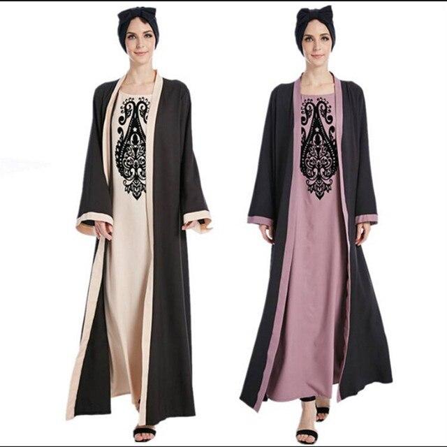 عباية دبي قفطان حجاب فستان مسلم ماليزيا شيفون كارديجان جلباب قفطان عبايات رمضانية للنساء ملابس تركية إسلامية 1